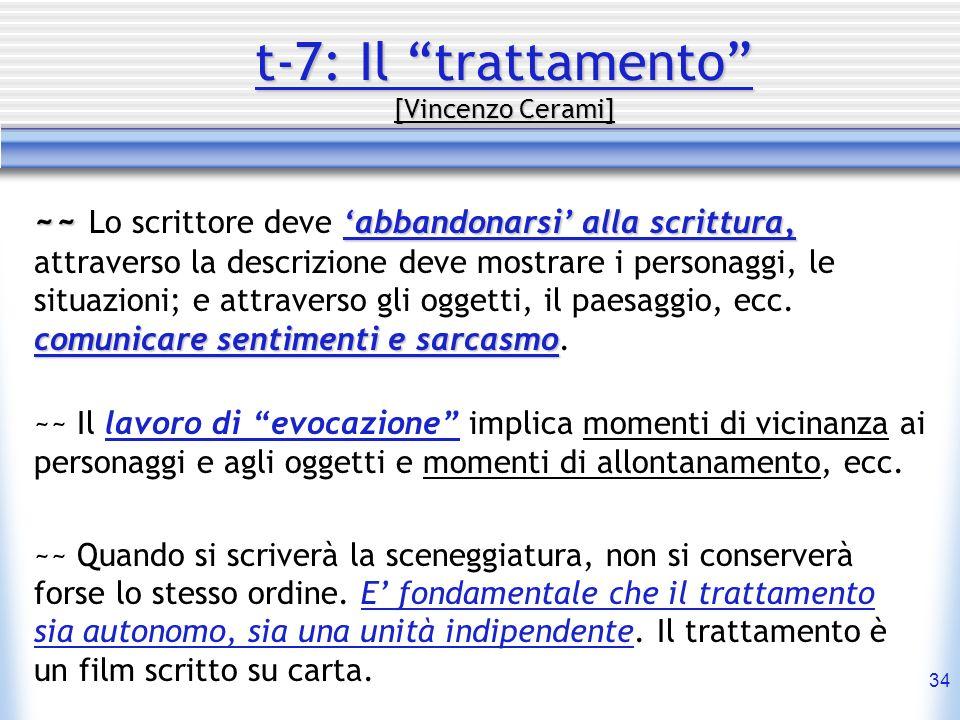 t-7: Il trattamento [Vincenzo Cerami]